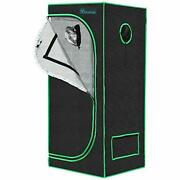 24x24x64 Grow Tent 1680d 2and039x2and039 Reflective Mylar Hydroponic Canvas Grow Room