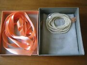And Co. Iridesse Necklace White Freshwater Pearl Opera Length 72 Nwb.