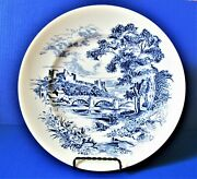 """Vintage China Enoch Wedgewood And Company Countryside Dinner Plate Blue White 10"""""""