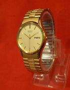Vintage Excellent Seiko Classic Menand039s Dress Watch W/ Day And Date Working