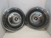 Set Of Two 1960and039s Buick Hubcaps Hub Caps 15 Covers