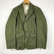 Diesel Spring Casual Army Green Denim Womenand039s Jacket / Coat Size S Small