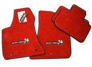 New Dodge Charger Scat Pack Bee Floor Mats Red Cool Bee Logos 4pc Nice Instock