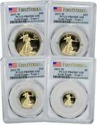2021-w American Proof Gold Eagle 4-coin Set Type 1 Pr69dcam First Strike Pcgs