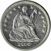 1858 Liberty Seated Silver Half Dime Inverted Date Fs-302 Au Uncertified