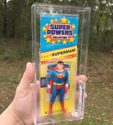 Kenner Super Powers Superman Cas 85 Graded 1984 Not Afa Free Sandh 🔥