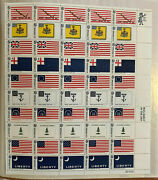 1968 Stamp 1345-1354 Historic American Flags Sheet Of 50 Stamps Mnh 6 Cent