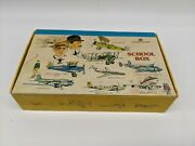Vintage United Airlines School Box Wright Bros Airplane History Of Aviation