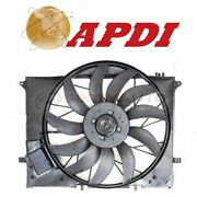 Apdi Dual Radiator And Condenser Fan Assembly For 2003-2008 Mercedes-benz Sl55 Xk