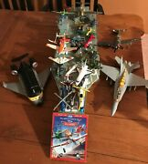 Disney Pixar Planes Uss Flysenhowe Aircraft Carrier Ship W Sound And Lot Of Planes