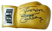 Sylvester Stallone Rocky Balboa Autographed Tuf Wear Yellow Glove Asi Proof