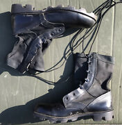 Gi Jungle Boots Black Cloth Side Size Menand039s 8 W Wide Spike Protective Waterproof