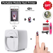 Mobile Portable Nail Art Printer Machine With 1 Year Warranty And Gift