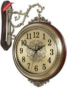16and039and039 Large Wall Clock Double Sided Clocks 360anddeg Battery Operated Clock Luxury Eu