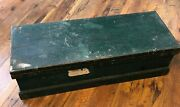 Tool Chest Box Toolbox Metal Handles Wooden Vintage Antique Shipping Chest 3 Ft.