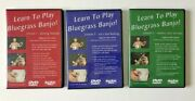Learn To Play Bluegrass Banjo Lesson 1, 2 And 3 Dvds By John Lawless 2005