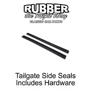 1987 - 1996 Ford Truck Tailgate Side Seals - Pair W/ Hardware