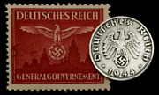 Rare Old Wwii German Coin One Reichspfennig 1944 D-day And Wwii Mnh Germany Stamp