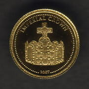 Somalia. 2007 Gold 2000 Shillings.. Imperial Crown. 0.5gms .9999 Gold.. Proof
