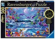 Ravensburger 15047 Moonlit Magic 500 Piece Glow In The Dark Puzzle For...
