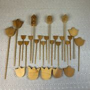 Lot Of 26 Unfinished Wood Cut Outs Flowers And Bird Houses Paintable Craft Shapes