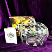 Shannon Crystal Pumpkin Candy Dish By Godinger 24 Lead - W/lid - New In Box