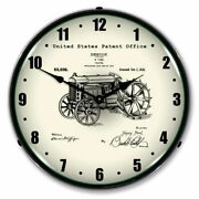 14 Double Bubble Ford Tractor Patent Art 1919 Backlit Led Wall Clock 21031203