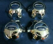 Ford F150 Pickup 09-13 Chrome Center Caps - Set 4 - Fits 18 And 20 Wheel - Oem