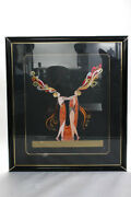Erte Kiss Of Fire Embossed Framed Signed Limited Edition Serigraph Print