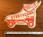 1940s Stratcona Club Toronto Canada Roller Skating Rink Decal Label