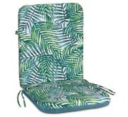 Outdoor High Back Seat Cushion Weather Resistant With 12in. Ties Tropical Color