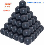 Rubber Solid Paintballs 100 X .68 Cal Riot Paintball Hard Balls.home Defense