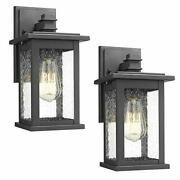Outdoor Wall Mount Lights 2 Pack, 1-light Exterior Sconces Lantern In Black
