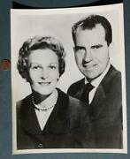 Rare 1960 President Richard Nixon And First Lady Pat Signed / Autographed Photo
