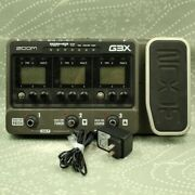 Zoom G3x Guitar Multi Effect Pedal With Ac Adapter 037156