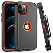 For Iphone 12/12 Mini/12 Pro Max Heavy Duty Shockproof Case+belt Clip Holster