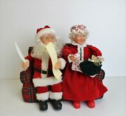 Mr And Mrs Santa Claus Checking His List And Singing Musical Christmas Decoration