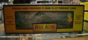 Lot 4-40 Mth Rail King Item 30-7419 Great Northern Rounded Roof Box Car W/box