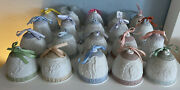 Lot Of 20 Lladro Christmas Bell Ornaments Years 1987-2006 Collectable Porcelain