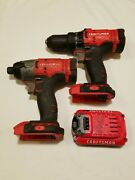 Craftsman Drill Driver Cmcd700, Impact Driver Cmcf800 And Battery Power Tools