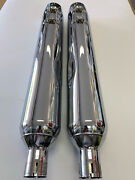 Harley Davidson Road Glide Slip On Exhaust Mufflers Fits 96 And Later