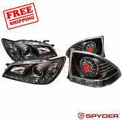 Spyder Halo Led Projector Headlights And Led Tail Lights Black Lexus Is 300 01-05