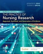 Burns And Groveand039s The Practice Of Nursing Research Like New Used Free Shipp...