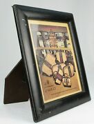 Vintage 1980s Designer Leather Picture Frame Made In Italy 15 X 13