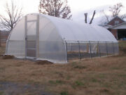Quonset Greenhouse 20and039 X 20and039 - High Tunnel Cold Frame Kit - Free Shipping