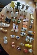Vintage Lot Of 23 Salt And Pepper Shakers Plus Singles Great Collection Nice