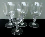 Baccarat - Provence - Fine Signed Crystal - 3 Goblets And 1 Wine - France