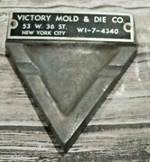 Real Nice Rare Cast Metal Ashtray From Victory Mold And Die Co, New York City