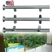 Glass Pool Fence 304 Stainless Steel Post Balustrade Clamps Railing For Handrail