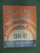 1941 - 1947 Ford Canada Chassis Parts Catalog Mercury Truck